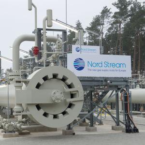 Norstreams anläggning i Tyskland.