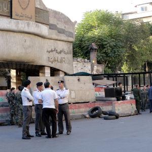 Säkerhetsstyrkor i Damaskus 11 oktober 2017.