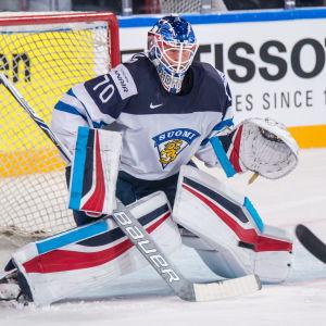 Joonas Korpisalo är tillbaka mellan stolparna när Finland möter Norge.