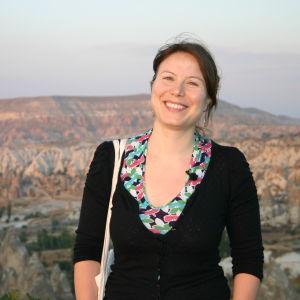 Ayla Albayrak i Kappadokien i Turkiet