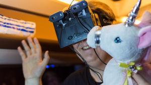 Virtuaalilasit olivat testissä myös vuoden 2014 Game Jameissa.
