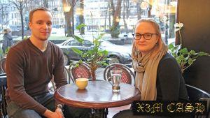 Filip Björklöf och Jenny Bergholm.