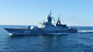 Ryskt militärfartyg nära Aranda öster om Gotland 2.9.2014