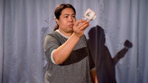 Foto från Kim, Lekki & Namwaan på Teater Jurkka.
