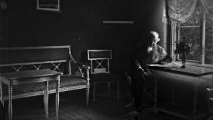 Zacharias Topelius sista gången på Majniemi på Alörn, 1897