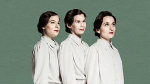 Cécile Orblin, Edith Holmström och Noora Dadu i Kangastus 38.