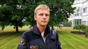 Kim Ståhl, löjtnant på Vallgrunds sjöbevakningsstation.