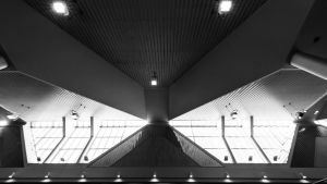 Fönster på Böle järnvägsstation.