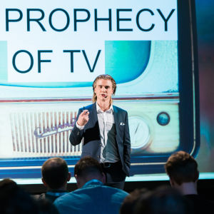 Pauli Kopu speaking at Yle Prophecy.