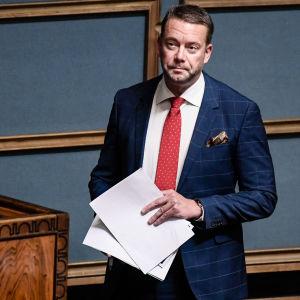 Stefan Wallin i riksdagen 2017.