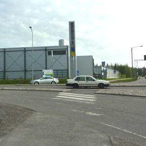 Korsningen mellan Tynnismalm och riksväg 25 i Lojo