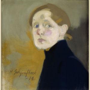 Helene Schjerfbecks Självporträtt (1912)