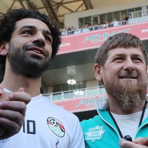 Mohamed Salah och Ramzan Kadyrov.