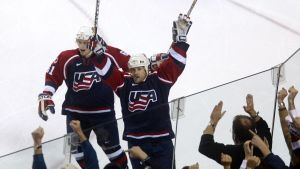 USA:s Tony Amonte gjorde segermålet i den avgörande finalen mot Kanada i World Cup-hockeyn 1996.