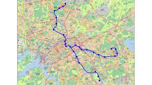 De planerade spåvägslinjerna i Åbo.