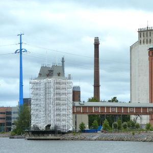 Havtornen i Vasa under renovering.