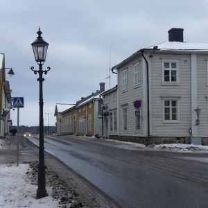 Trähus i Kristinestad.