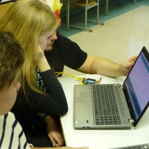 Dataklass i Kristinestads högstadieskola