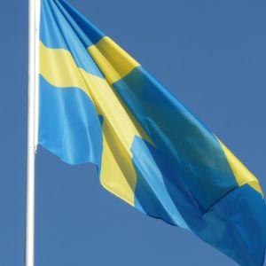 Sveriges flagga.