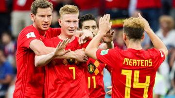 Belgien firar mål.