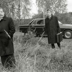 Esko Nikkari ja Juhani Niemelä Veikko Aaltosen elokuvassa Tilinteko,