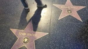 Två stjärnor på Hollywood Walk of Fame