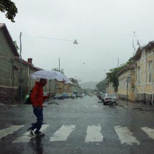 Regnig dag i Åbo.