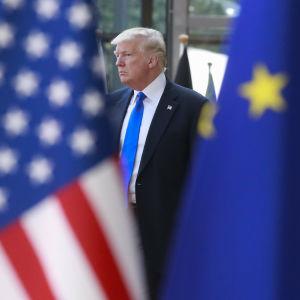 President Donald Trump på besök i Bryssel 25.5.2017