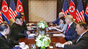 Toppmötet mellan Kim Jong-un och Donald Trump.