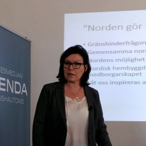 Britt Lundberg föreläser i Helsingfors
