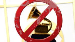 Överkryssad Grammystatyett