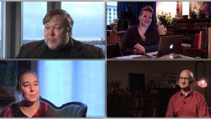 Neljä kotimaista kirjailijaa