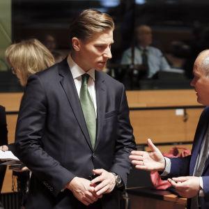 Antti Häkkänen (t.v.) och Morgan Johansson