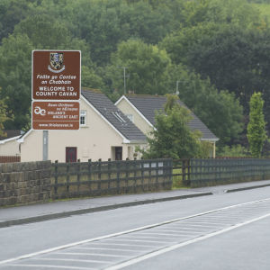 Gränsen mellan Irland och Nordirland.