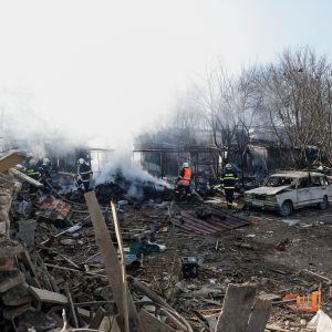 Olycksplatsen i byn Hitrino, 380 kilometer från Bulgariens huvudstad Sofia.