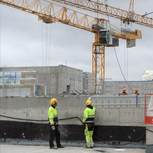 Byggarbetsplats i Fiskehamnen, Helsingfors.