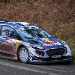 Sebastien Ogier kör i Wales