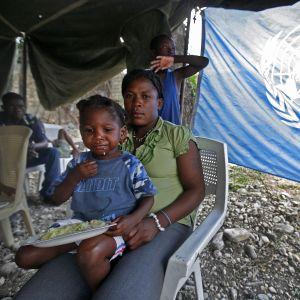 FN:s biståndsarbete i Haiti.