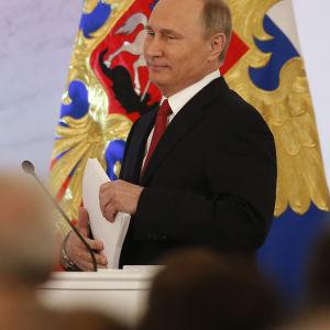 Vladimir Putin håller sitt linjetal till nationen 1.12.2016