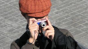 Turist som fotograferar