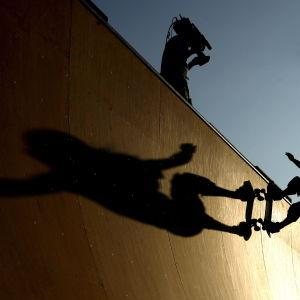 arkivbild av skateboardpark