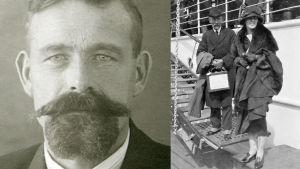 Emanuel Ramstedt 1926 och hans bror Gustaf Johan Ramstedt med dotter 1923.
