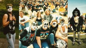 Sminkade Kiss-fans 1996 i Donington, England