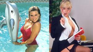 Två klassiska bilder på Samantha Fox från 80-talet