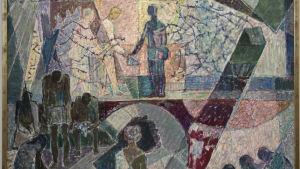 Taggtråd och försoning (1971), konstverk av Lennart Segerstråle.