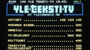 Teksti-tv:n etusivu