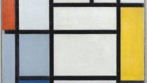 Komposition mit Rot, Schwarz, Gelb, Blau und Grau, 1921