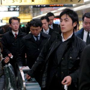 Japaner i metron.