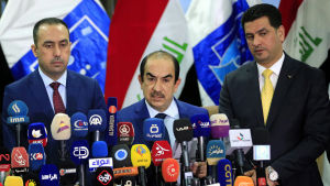 Riyadh al-Badran, ledare för valkommissionen i Irak 2018.