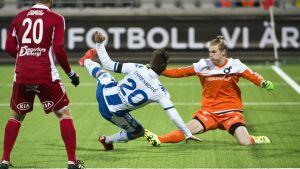 Jesse Öst i elden i Svenska Cupen 2016.